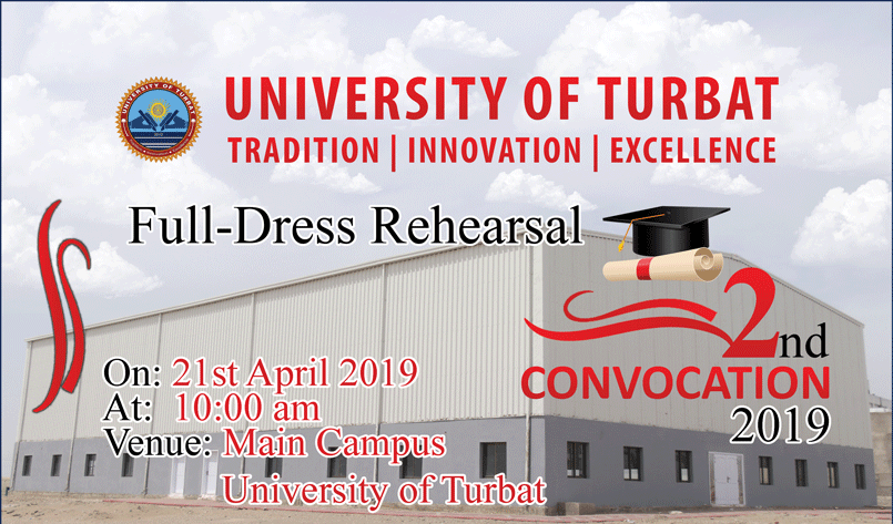 Full-dress rehearsal of 2nd Convocation UoT