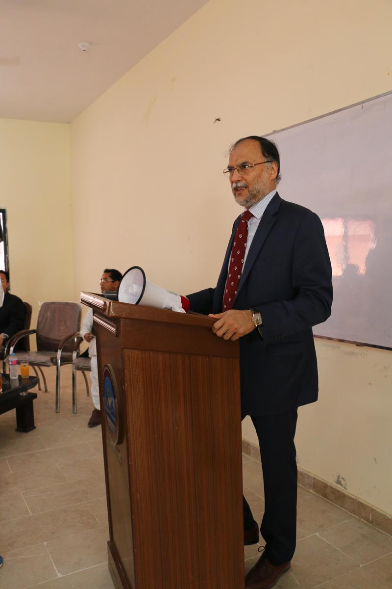 Prof Ahsan Iqbal visits UoT Gwadar Campus