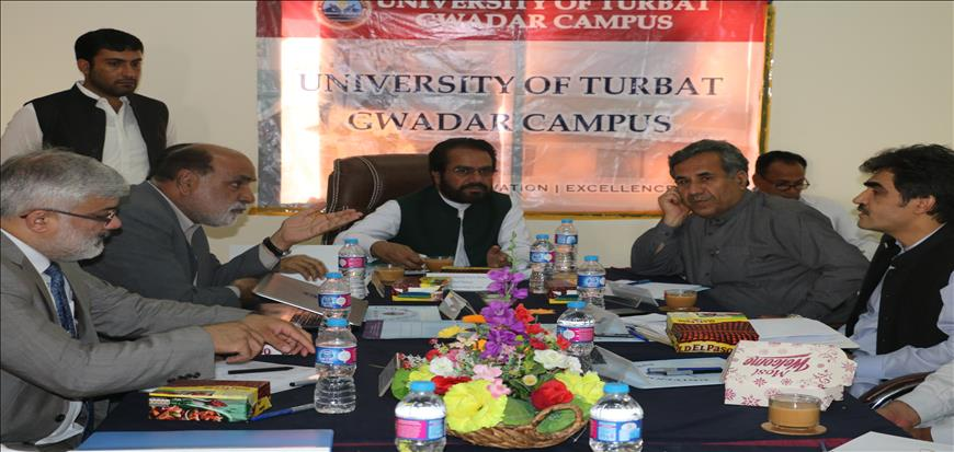 CJ BHC presides over a meeting in UoT Gwadar Campus