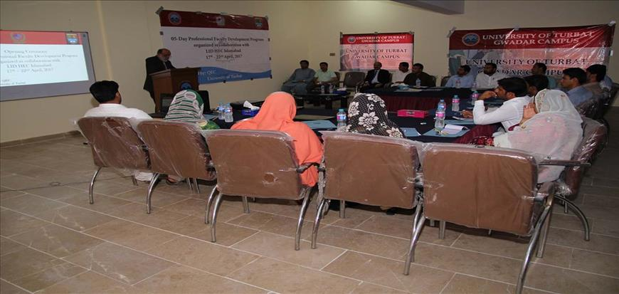 5 Day Professional Development Program at Gwadar Campus