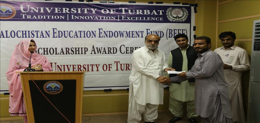BEEF Cheque distribution Ceremony held at University of Turbat