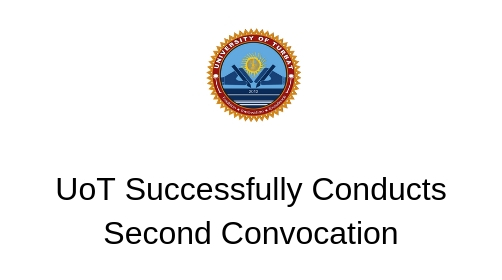 UoT Successfully Conducts Second Convocation