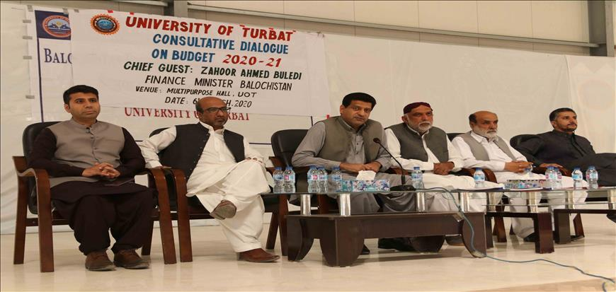 Pre-budget session held in Turbat University