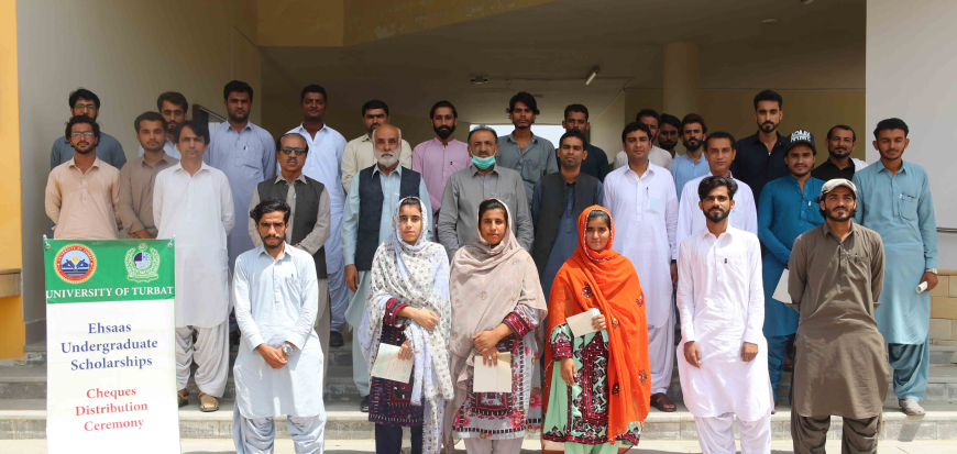 Cheque distribution ceremony under Ehsaas Scholarships in UoT