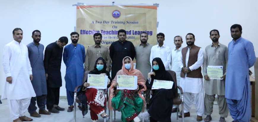 A Two-Day Training Workshop held in UoT's Gwadar Campus