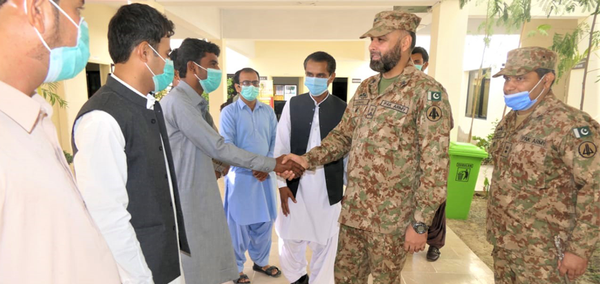 Interactive session between Brigadier and faculty, students of UoT's Gwadar Campus