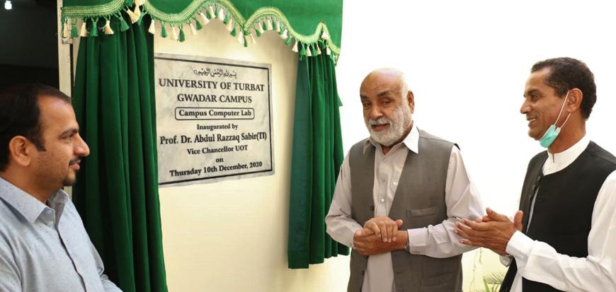 VC UoT inaugurates computer lab in Gwadar campus