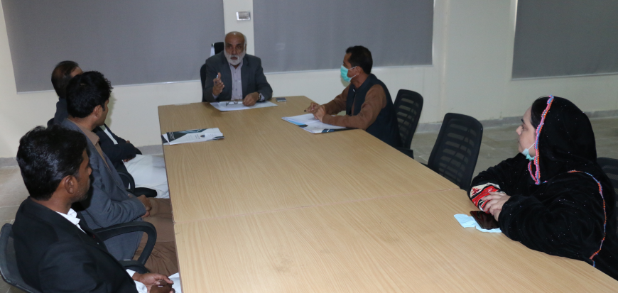 VC UoT holds meeting with faculty members of Gwadar Campus