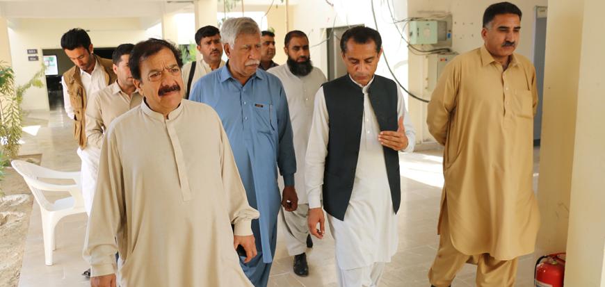 Media teams from Quetta visit UoT's Gwadar Campus.