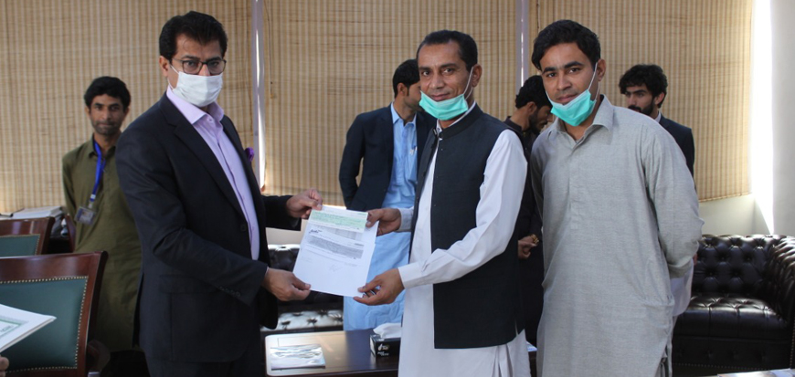Internship Certificate Distribution Ceremony at Gwadar Port