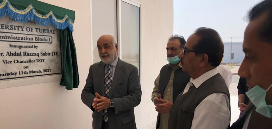 VC inaugurates new Admin Block in Turbat University