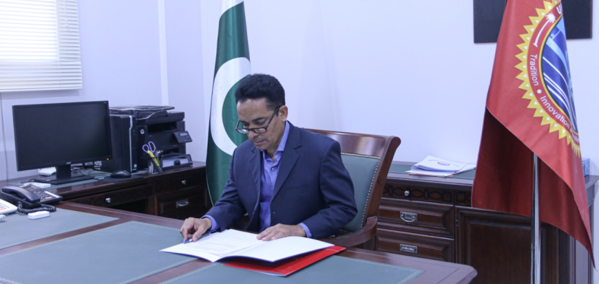 Prof. Dr. Jan Muhammad assumed the charge as Vice Chancellor of UoT