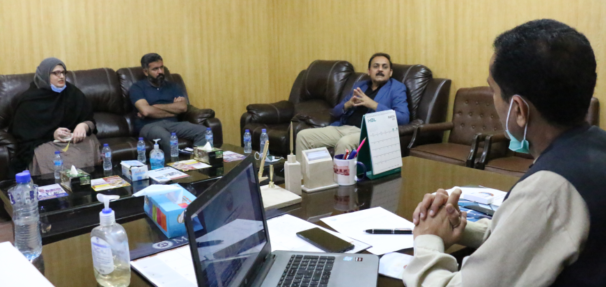 Country Coordinator MoCC & UNDP visits UoT's Gwadar Campus