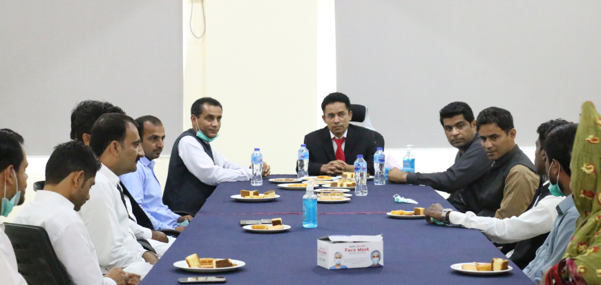 The VC visits Gwadar Campus