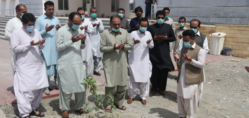 Vice Chancellor inaugurates plantation drive in University of Turbat