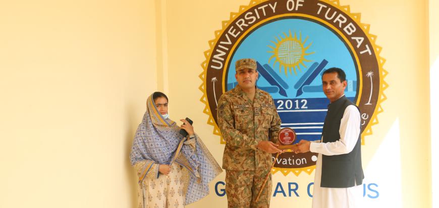 Commander 440 Brigade Gwadar visits UoT's Gwadar Campus.