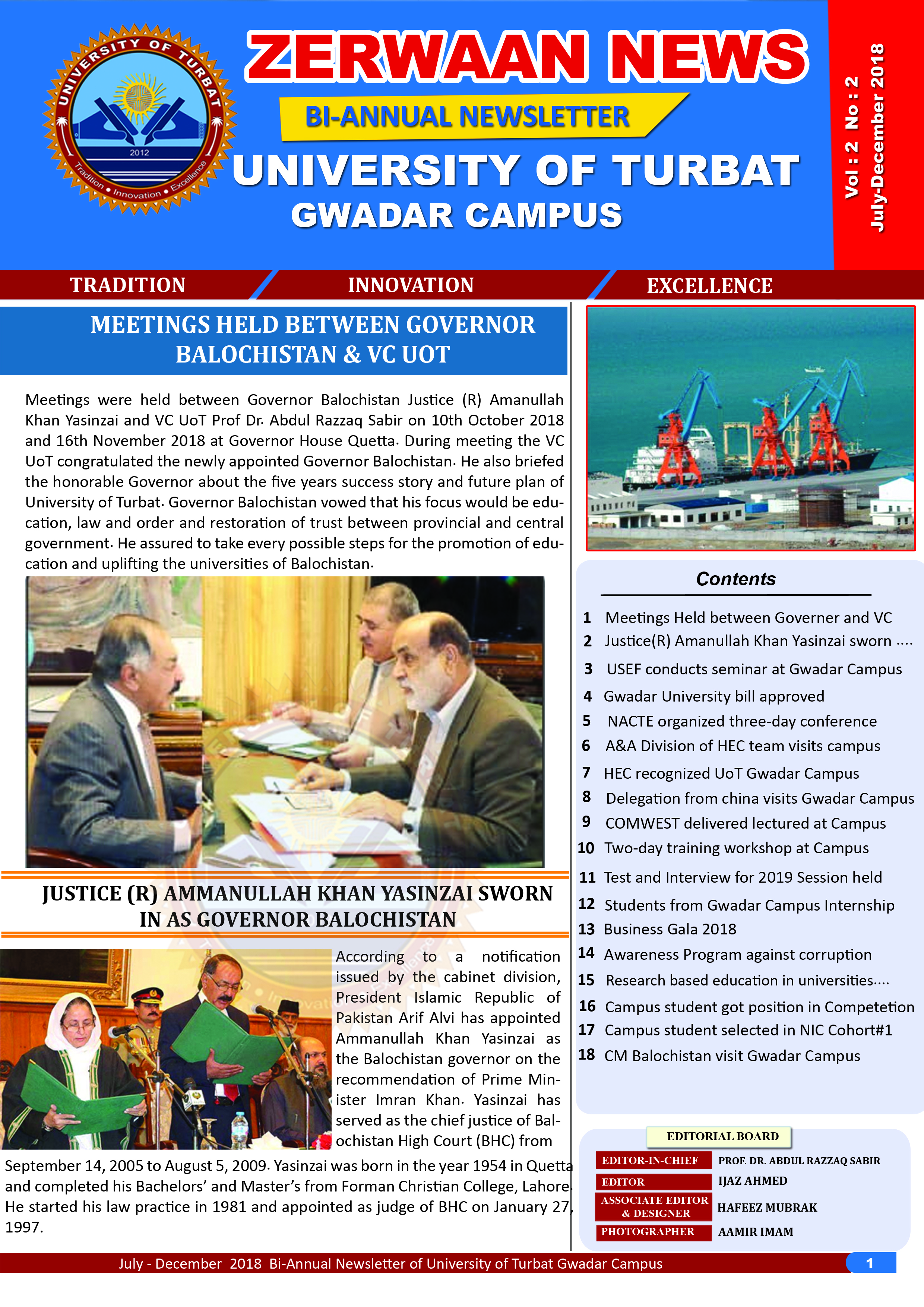 Zerwaan News July-December 2018 Edition