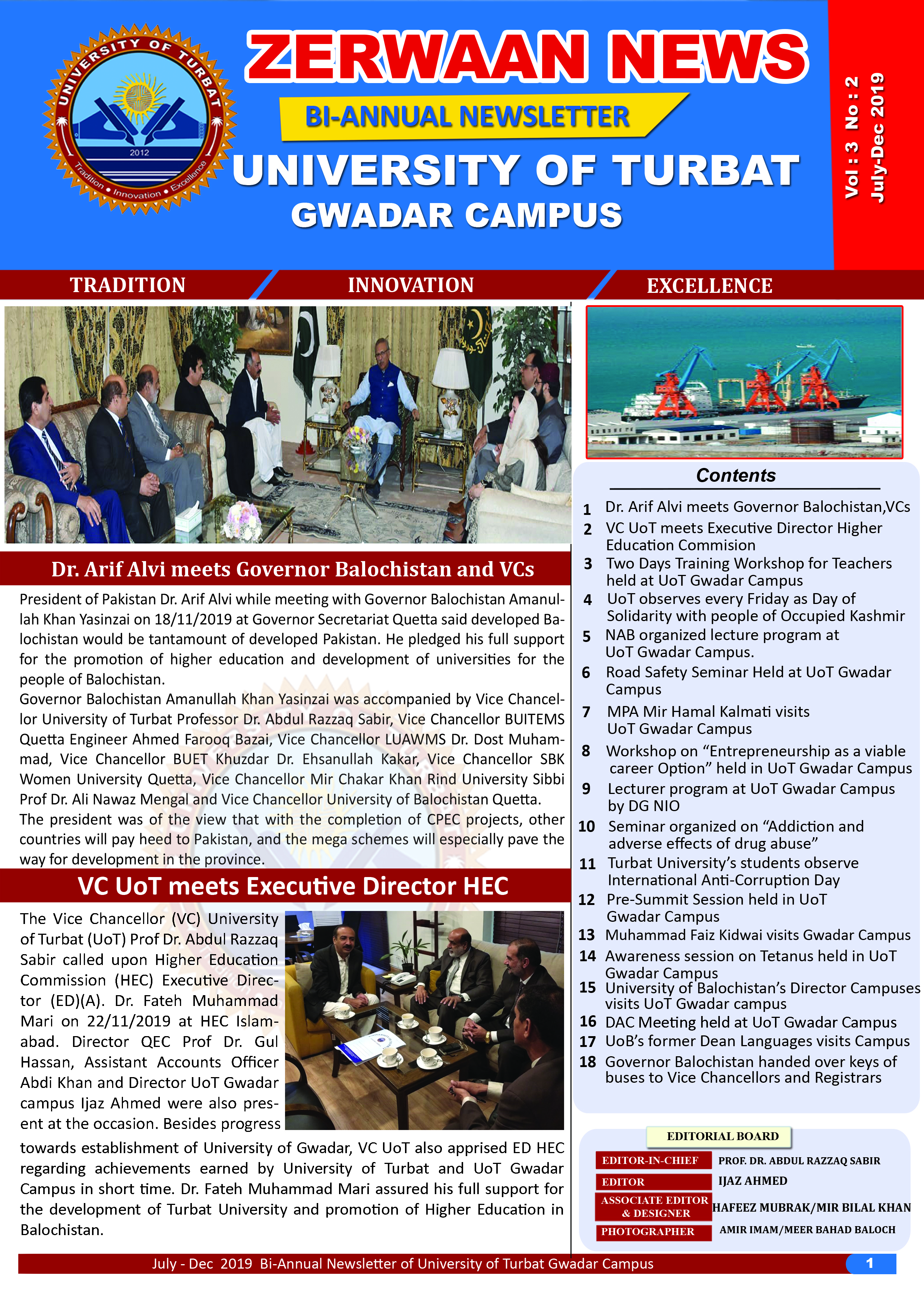 Zerwaan News July-December 2019 Edition