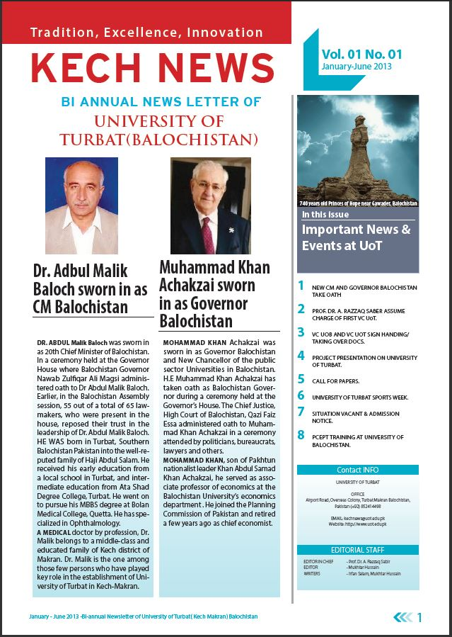 Kech News January-June 2013 Edition