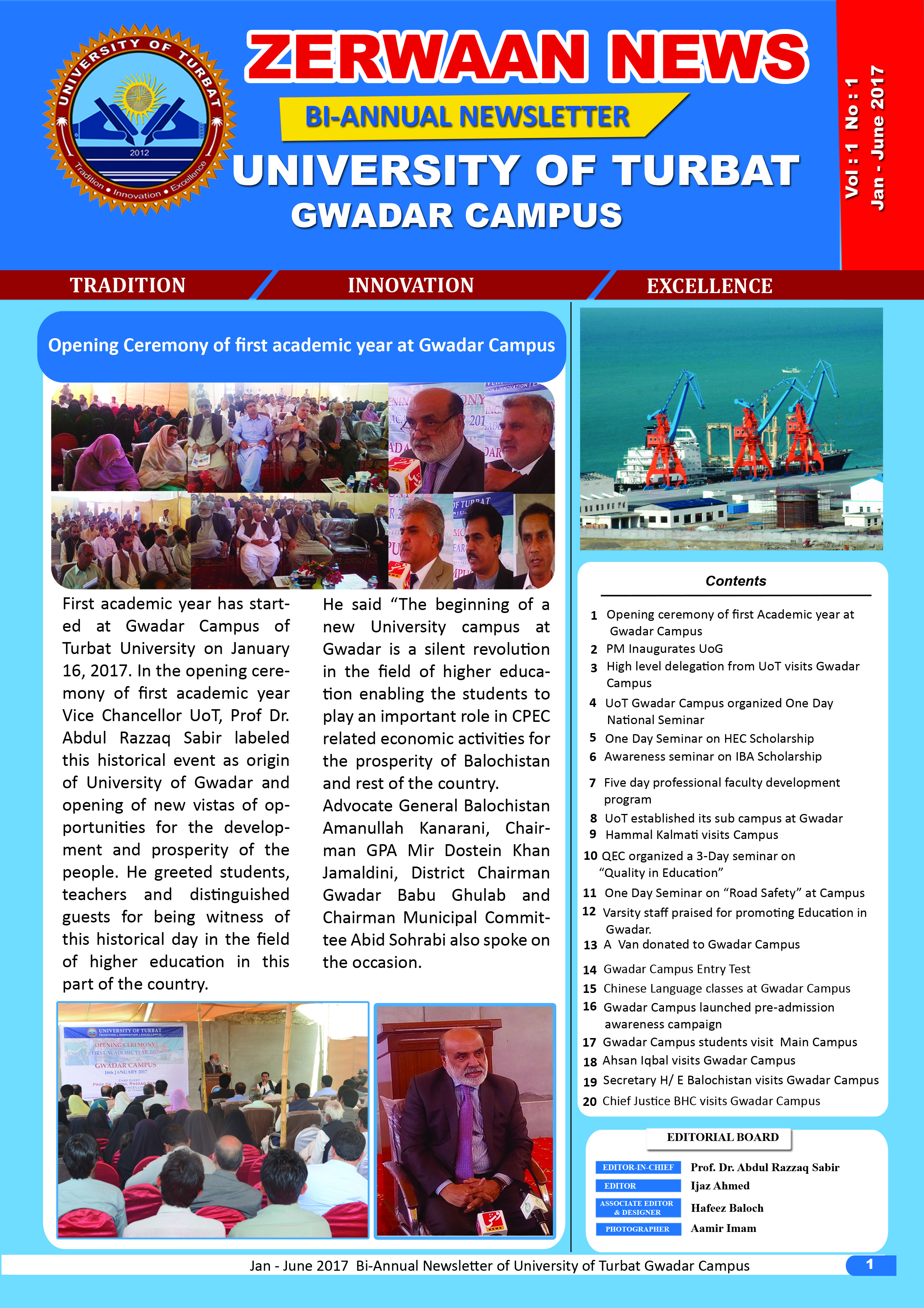 Zerwaan News January-June 2017 Edition