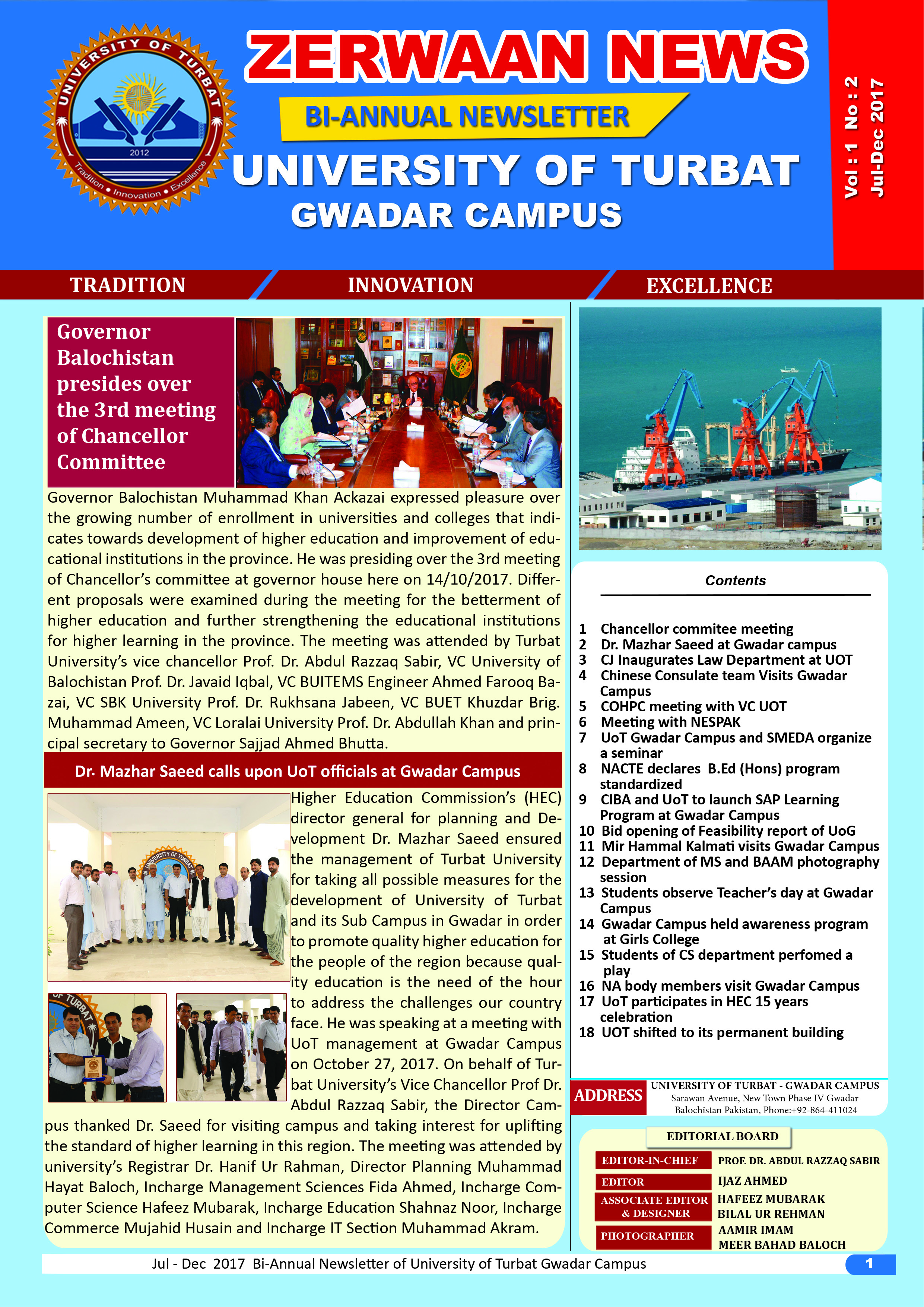 Zerwaan News July-December 2017 Edition